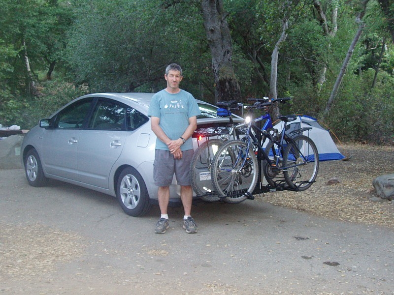 Me And The Prius With Hitch Bikes In Rack