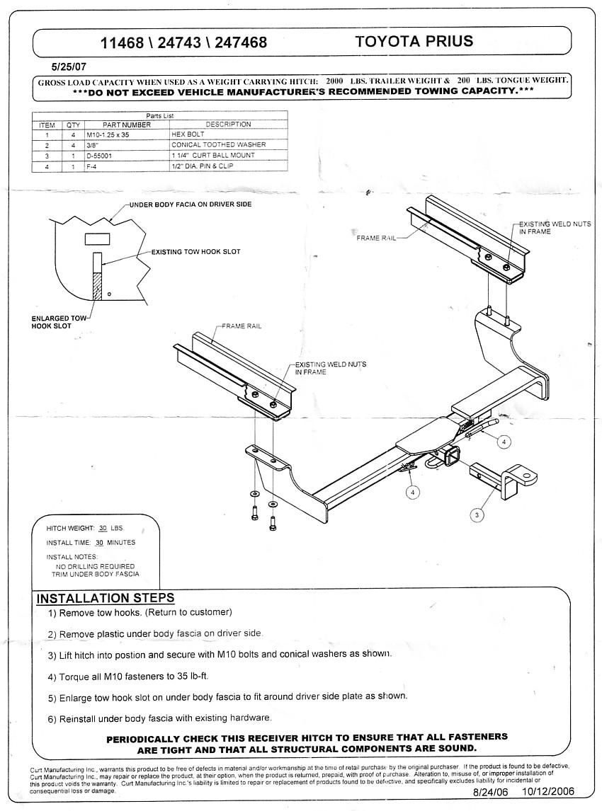Prius Hitch-mounted Bike Rack Page
