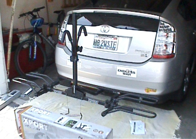 Bike Rack Hitch Mount Xport bike carrier open