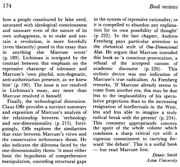 herbert marcuse theory analysis In this work marcuse stresses the forces of technology and rationality rather than the psychoanalytic, extending weber's analysis and that of earlier critical theory marcuse appears to argue that instrumentally rational forms have taken over from more substantively rational forms.