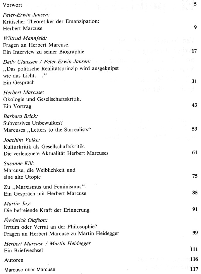 Books about Herbert Marcuse