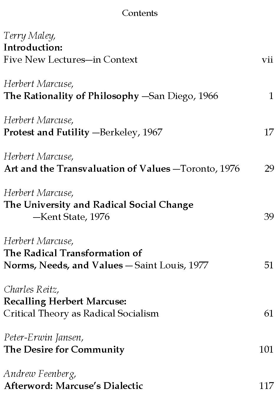 Herbert Marcuse Official Homepage