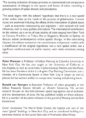 Peter Marcuse personal page